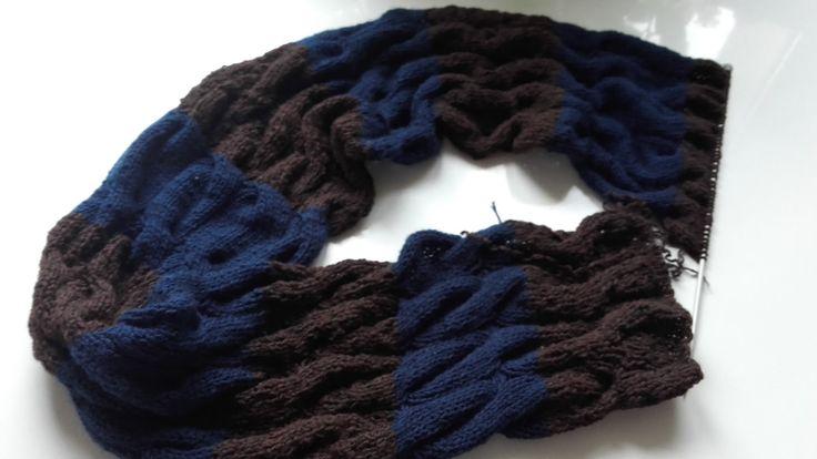 szalik na drutach