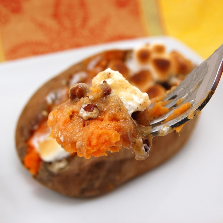 Twice-Baked Stuffed Sweet Potatoes -- like a mini Sweet Potato ...