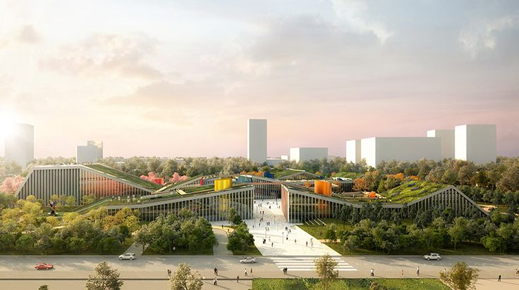 the project has been designed as a new focal point for shanghai, with communal public amenities combining nature, culture, and entertainment.
