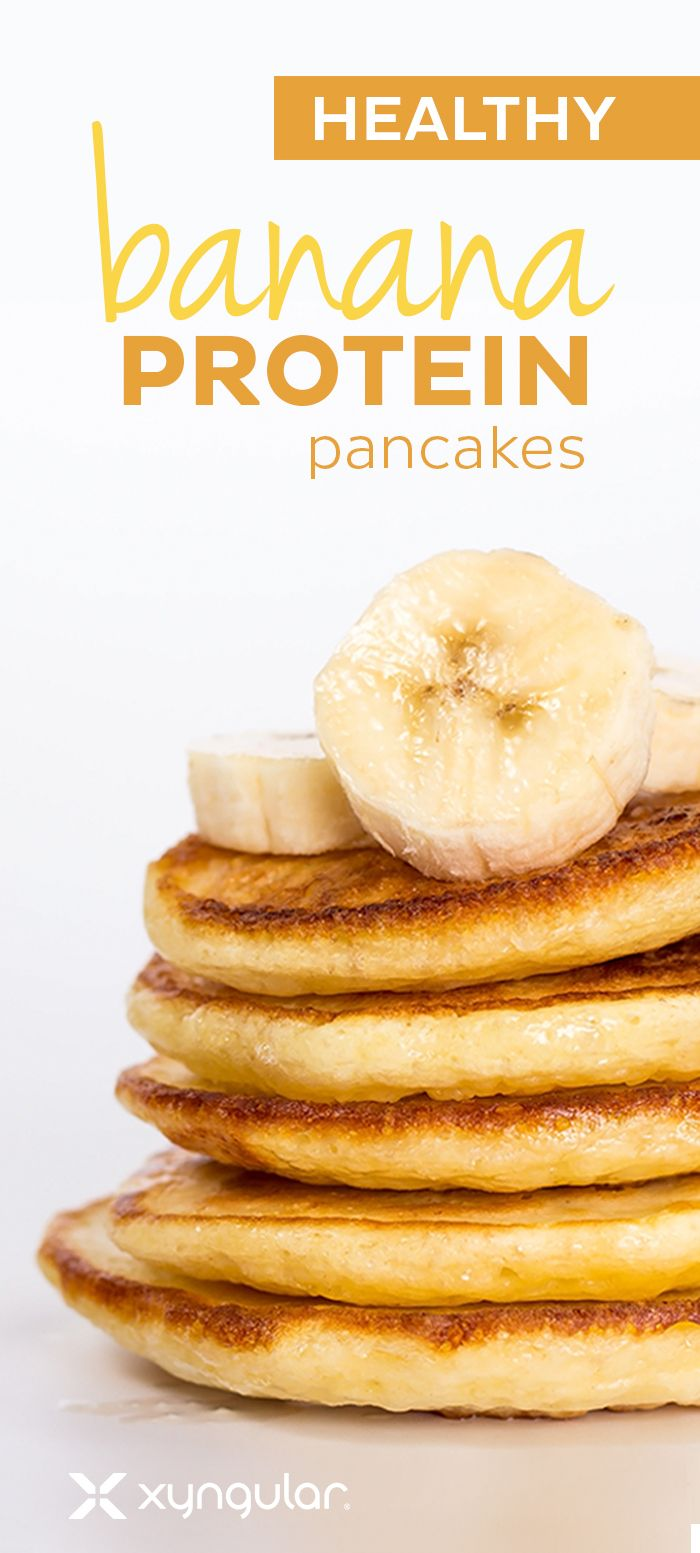 Try our delicious Banana Protein Pancakes. They are packed with nutrients, and can easily be made ahead of time and reheated for maximum convenience.
