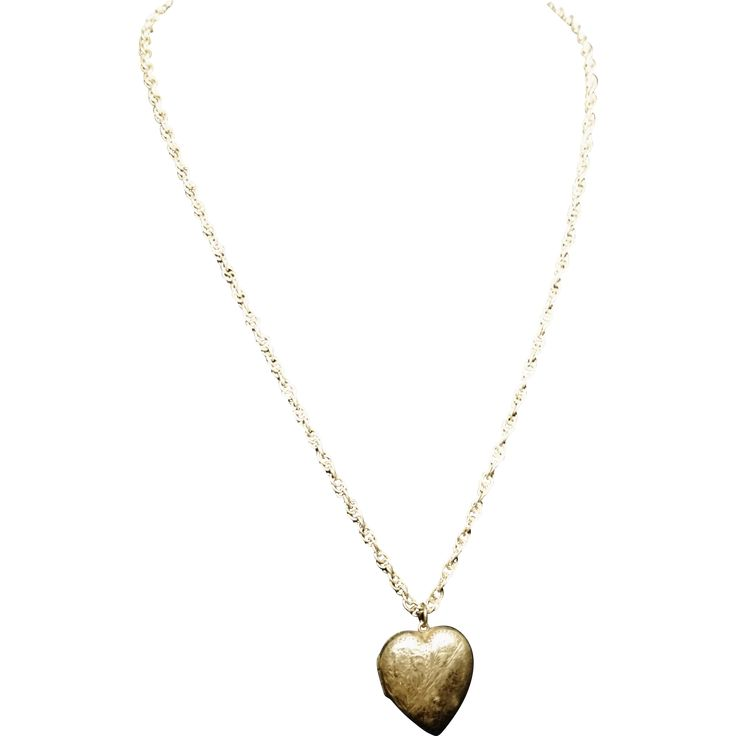 Antique silver heart locket, victorian picture locket necklace www.rubylane.com #vintagebeginshere