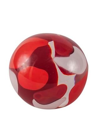 Abby Modell Small Paper Weight, Red Swirl