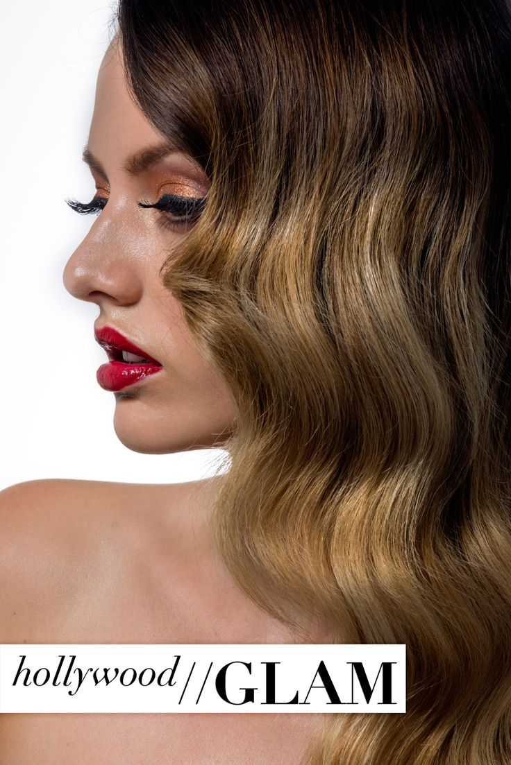 hollywood glam hair and makeup style