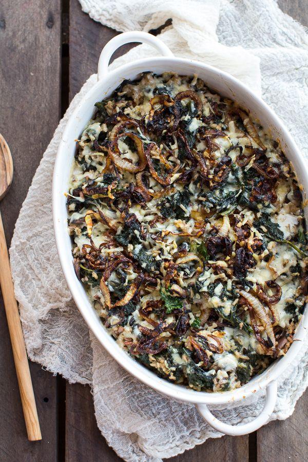 Gruyere Kale and Wild Rice Casserole   halfbakedharvest.com