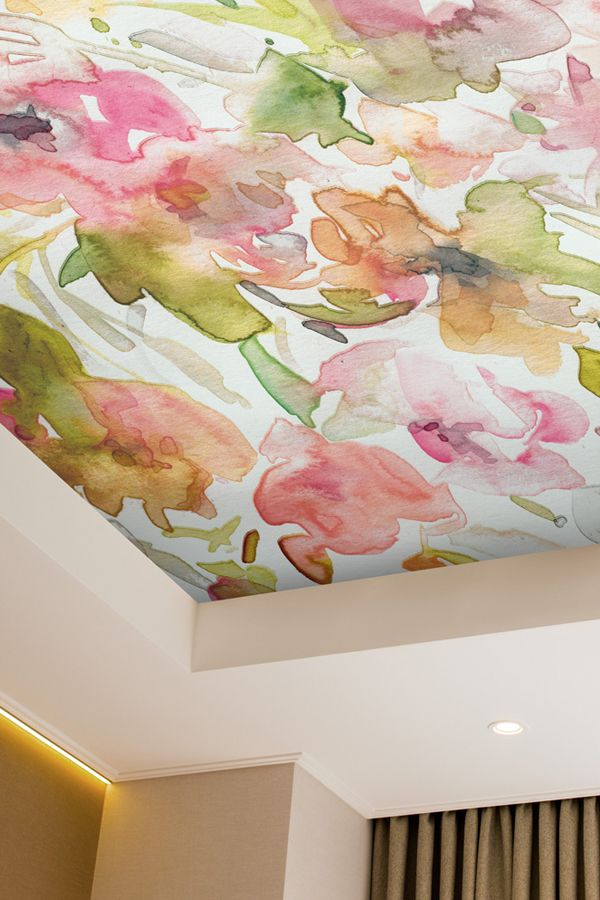 Ceiling Wallpaper Is All The Rage Right Now Decorate Your Fifth Wall With A Beautiful Floral Wallpaper By Carol Wallpaper Ceiling Wall Wallpaper Ceiling Decor Ceiling wallpaper ideas uk