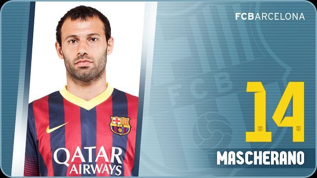 Javier Mascherano was presented as an FC Barcelona player on August 30, 2010 after the authoritative midfielder completed his move from Liverpool, where he had been established as a major star. The 'Little Chief', as the Argentinian is affectionately known, is a player who has earned the respect of all wherever he has played.