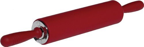 Head Chefs Sil-Pin Traditional Rolling Pin with Ball Bearings and Rubber Handles