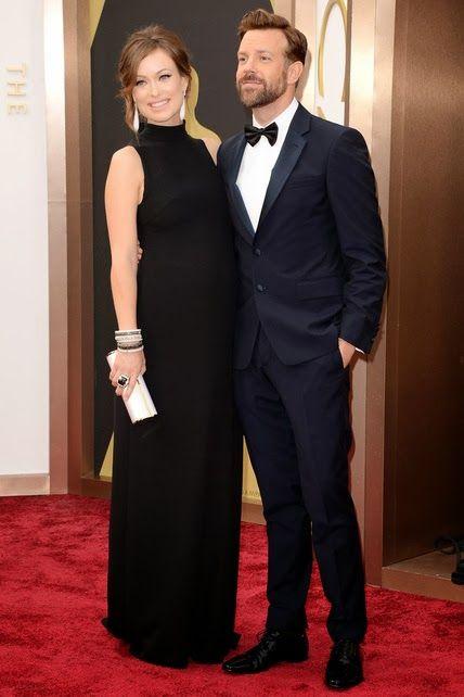 Olivia Wilde y su marido.  http://cuchurutu.blogspot.com.es/2014/03/ellos-y-parejas-en-oscars2014.html