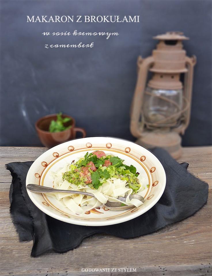 Pasta with broccoli and camembert sauce | Gotowanie ze Stylem