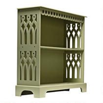 Large Green Cut-Out Bookcase from Christmas Tree Shops could be transformed to an over the bed bookcase maybe