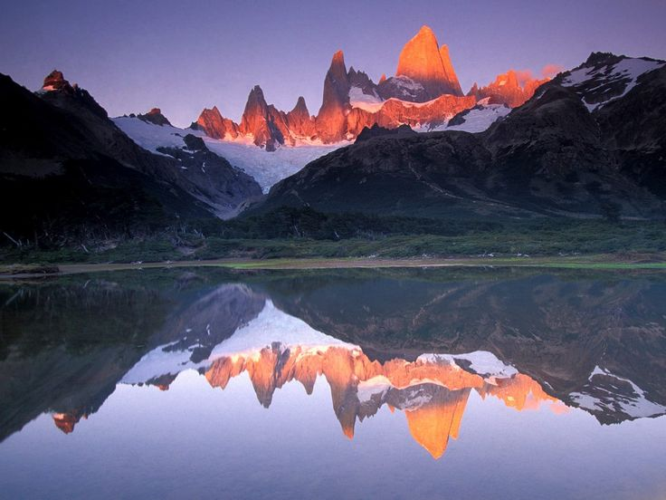 Monte Fitz Roy is a mountain located near El Chaltén village, in the Southern Patagonian Ice Field in Patagonia, on the border between Argentina and Chile