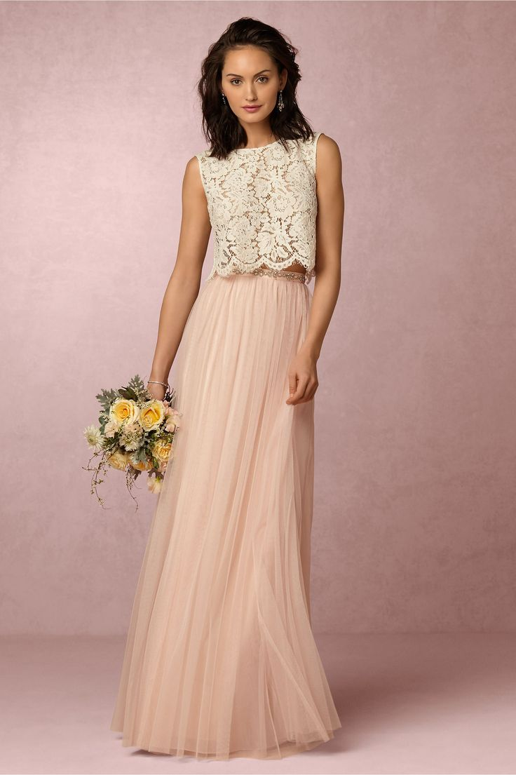 Cleo Top & Louise Tulle Skirt in Bridesmaids View All Dresses at BHLDN