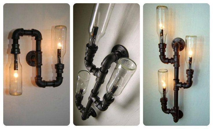 Lámparas hechas con tuberías | Hacer bricolaje es facilisimo.com