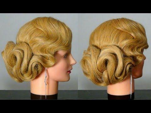 Свадебная и вечерняя прическа. Wedding prom hairstyles for long hair.