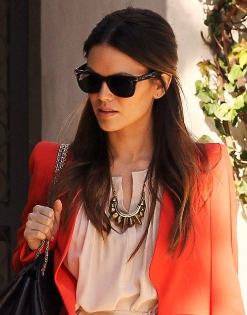 Love the orange blazer