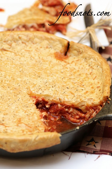 Chicken Parmesan Skillet Pot Pie | Pot Pie | Pinterest