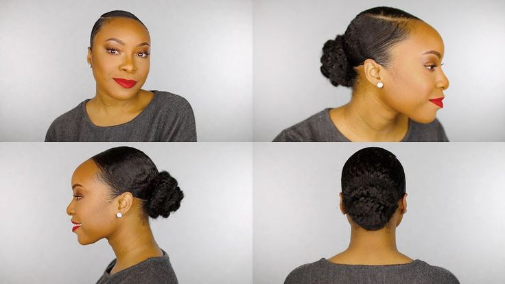 HOW TO | Sleek Faux Bun on Short Thick Natural Hair (Perfect for Type 4 ...