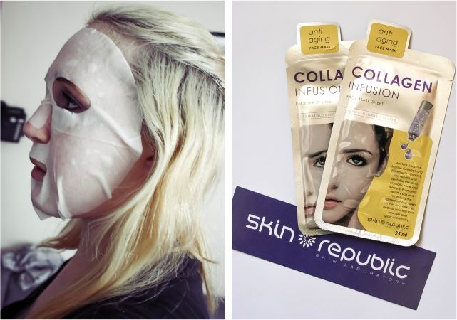 Skin Republic Collagen Infusion Mask  #beauty #beautyblogger #beautyblog #bblogger #bblog #facemask #sheetmask