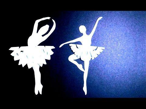 Снежинка-Балеринка своими руками / Поделки оригами из бумаги - YouTube