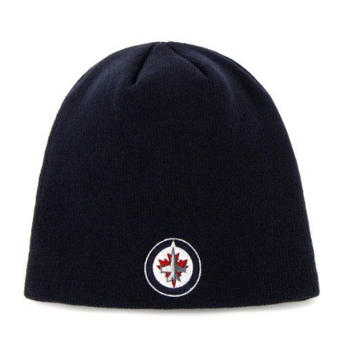 NHL Winnipeg Jets Basic Cuffless Knit Beanie, One Size by Reebok. $10.49. One Size Fits All. 100% Acrylic. Embroidered Team Logo. Made by Reebok. These days, you often see other fans wearing eccentric winter hats. You know you need to wear one to keep warm, but you've been struggling to find one that is simple enough while still showing off your die-hard Jets pride. Well, your search is over, because this Winnipeg Jets Basic Logo Scully knit beanie by Reebok is ...