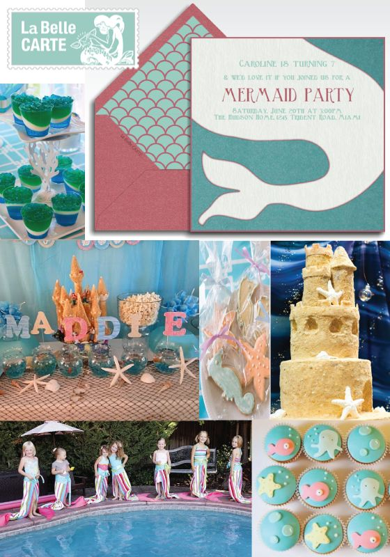 Online Invitations Electronic Cards Mermaid Party Under The Sea baby Shower.......maybe an idea for a baby shower