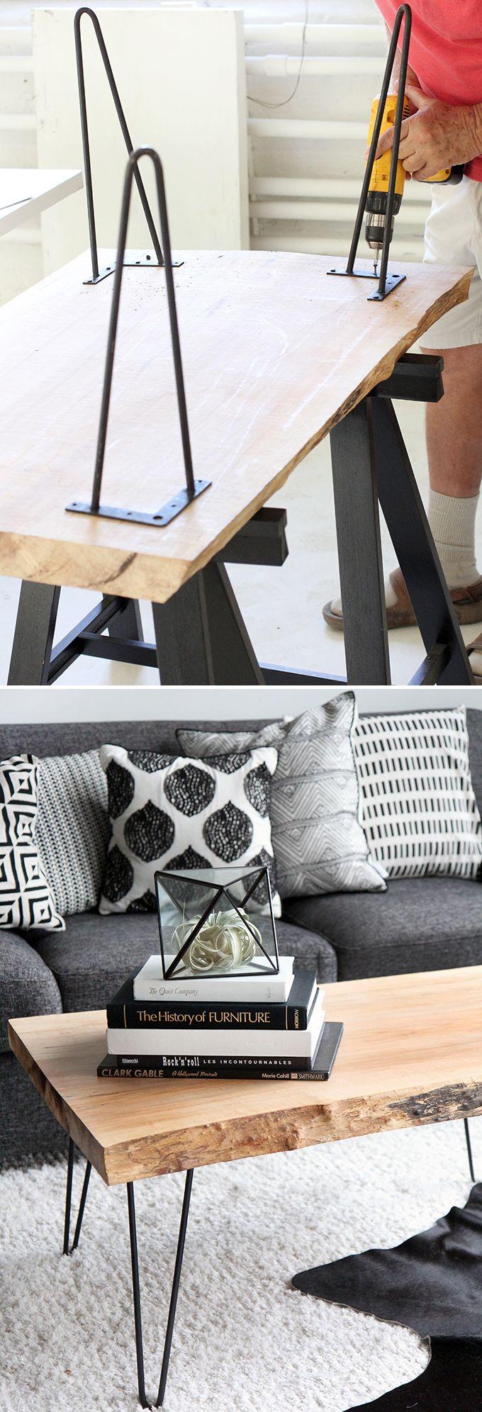DIY | Wood Slab Coffee table                              …