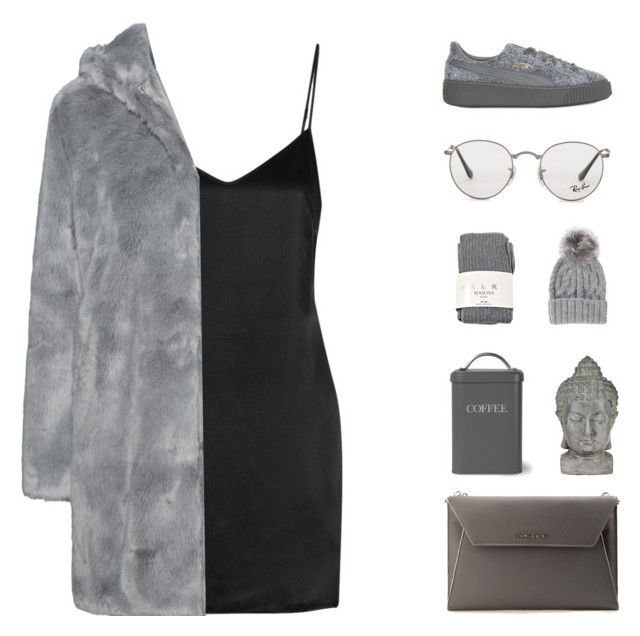 """""""[TOP SET]"""" by ashola18 ❤ liked on Polyvore featuring La Perla, Puma, Ray-Ban, Falke, Eugenia Kim, Garden Trading, Universal Lighting and Decor and Lancaster"""
