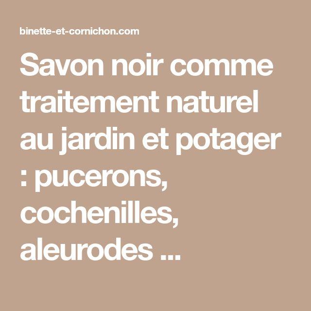Savon noir comme traitement naturel au jardin et potager : pucerons, cochenilles, aleurodes ...