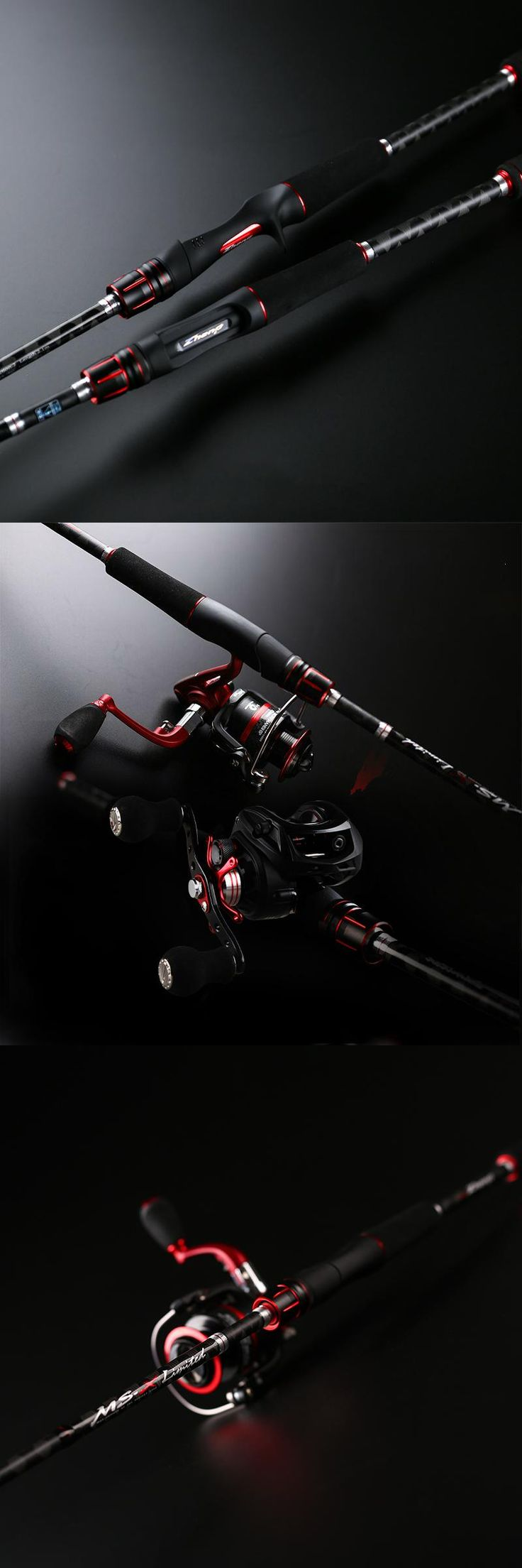 [Visit to Buy] New Fishing Rod 2.1m Baitcasting Rod and Spinning Fishing Pole Bass Fishing Tackle Lure Fishing Gear With FUJI Guide #Advertisement
