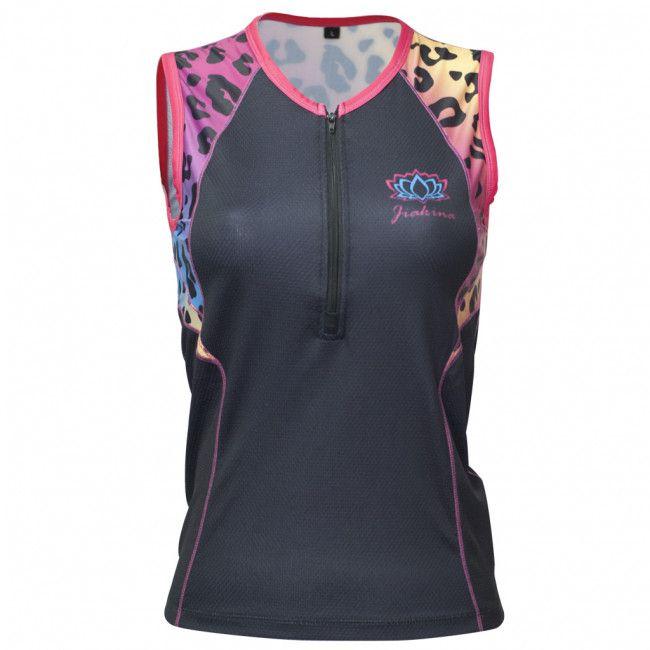 1d370ca7aa2a0c Jiakina Triathlon Shirt Woman Leopard #jiakina #jiakinasports #triathlon