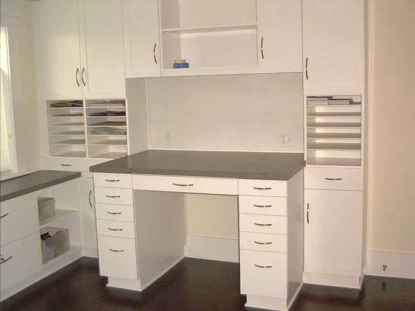 Custom Painted Craft Table And Storage Cabinet Terrific Storage And The Desk Looks Nice In
