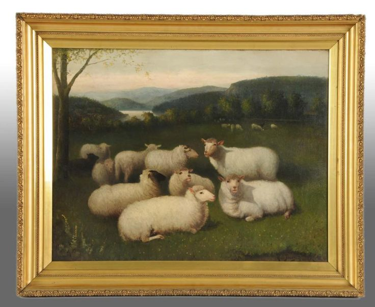 I choose this because the painting was described as having sheep and the gold goes with the brown theme color.