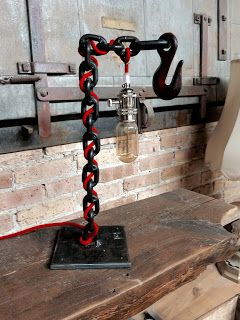 WELDED CHAIN LAMP VERSION 2.0 CHECK US OUT ON ETSY AT ...