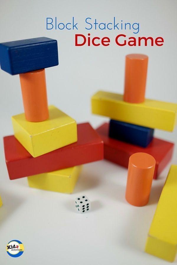 block stacking dice game by kidz activities kids school help activ. Black Bedroom Furniture Sets. Home Design Ideas