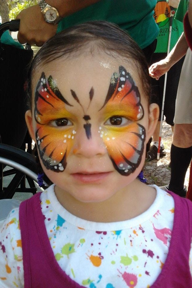 Monarch Butterfly Face Paint Monarch Butterfly Face Paint