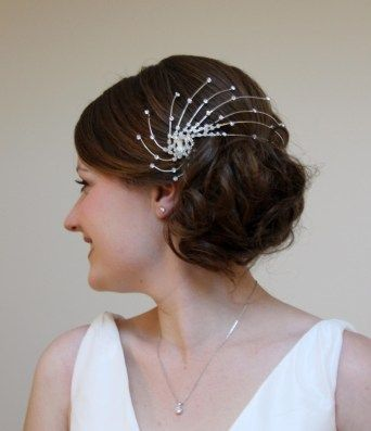 46 best Wedding Hair Up images on Pinterest | Headpiece wedding ...