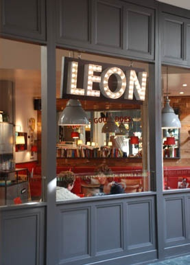 Leon Restaurants, London: great chain with local, fresh ingredients and pretty good prices. Located everywherrree, lots of places. Try the sweet potato falafel. It makes my life a better place.