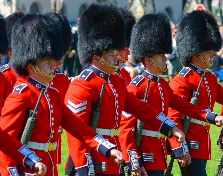 The Changing the Guard ceremony is held each morning on Parliament Hill in Ottawa, Canada, from late June through late August and is a colourful spectacle of pomp, pageantry and music.