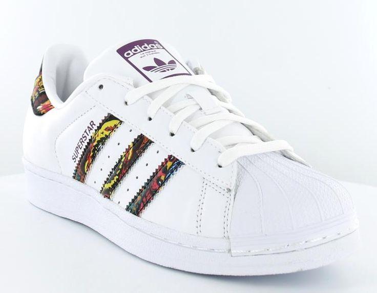 Adidas superstar x the farm company blanc/print/multicolor