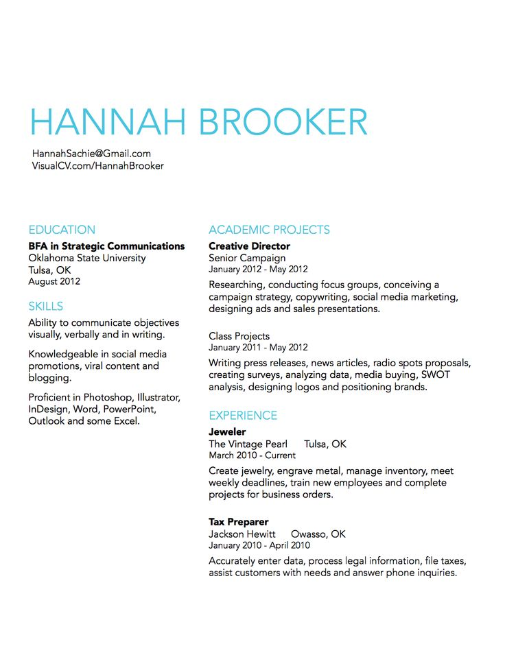 simple resume design idea