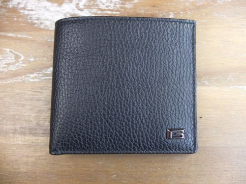 auth GUCCI black leather bifold wallet - New in Box