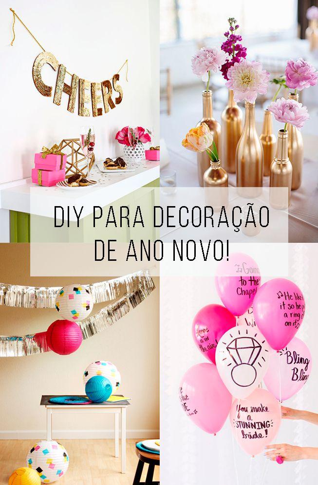 Ideias fáceis e rápidas para você decorar a sua festa de ano novo e que podem durar o ano todo! // Inspiração e tutorial (is) faça você mesmo para o ano-novo. // palavras-chave: faça você mesma, DIY, inspiração, decoração, ideia, tutorial, mesa, mesa de festa, ano-novo, reveillon, decoração, pisca-pisca, tinta spray, balão, ideias criativas para usar balão, guirlanda, tassel, papel-seda, new years eve,