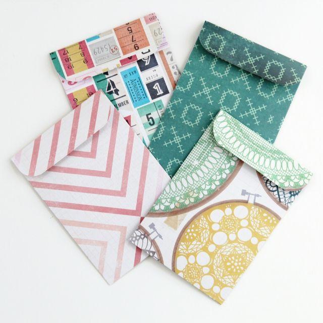 Diy Scrapbook Paper Pocket Envelopes.