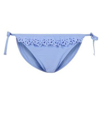 Lilac Cutwork Frill Bikini Bottoms