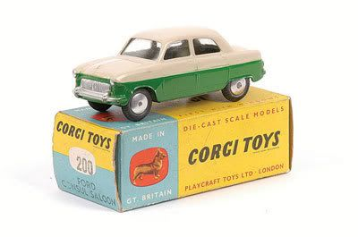 Mettoy Corgi diecast No.200 Ford Consul Saloon 1956-61