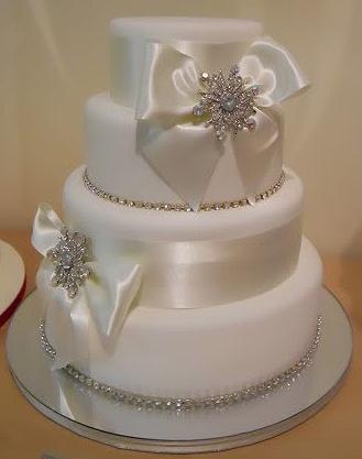 Lovely Elegant But Simple Wedding Cake Easy To Diy With Off The Shelf Weddingcelebration
