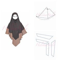 How to make khimar (hijab) longer! HelikaStyle sewing tutorial. Renew old khimar, or make it longer, or make it a bit brighter. HelikaStyle knows the way to save your islamic clothing. Sew with HelikaStyle!