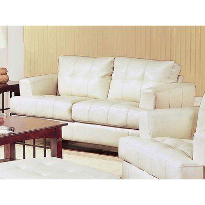 Ebern Designs Granville Bonded Leather Loveseat Furniture Love