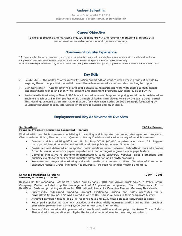 Social Media Manager Resumes Unique Andrew Ballenthin Marketing Social Media Resume In 2020 Job Resume Examples Marketing Resume Sample Resume