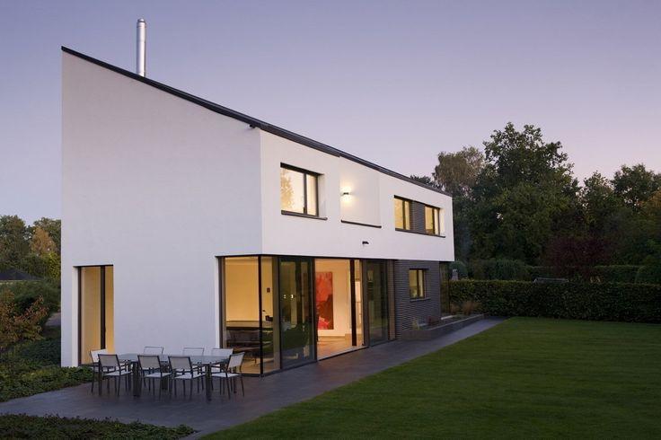 360 modernes einfamilienhaus am bach wohnen neubau und hausfassade. Black Bedroom Furniture Sets. Home Design Ideas